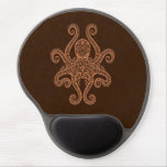 Intricate Brown Octopus Gel Mouse Pad