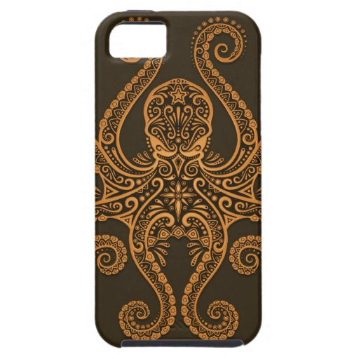 Intricate Brown Octopus iPhone 5 Case