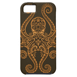 Intricate Brown Octopus iPhone SE/5/5s Case