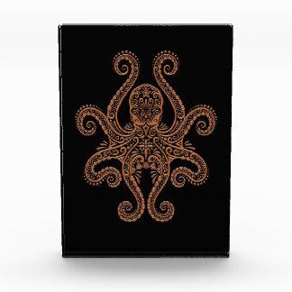 Intricate Brown Octopus on Black Award