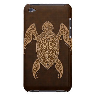 Intricate Brown Sea Turtle Barely There iPod Cases