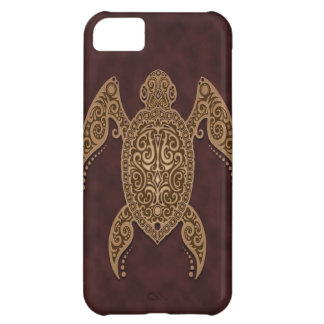 Intricate Brown Sea Turtle iPhone 5C Covers