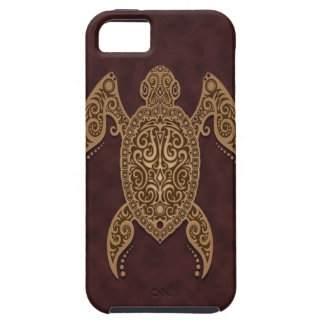 Intricate Brown Sea Turtle iPhone 5 Cases