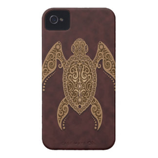 Intricate Brown Sea Turtle Case-Mate iPhone 4 Cases