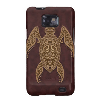 Intricate Brown Sea Turtle Galaxy SII Covers