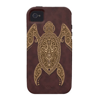 Intricate Brown Sea Turtle Vibe iPhone 4 Case