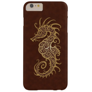 Intricate Brown Seahorse Design Barely There iPhone 6 Plus Case