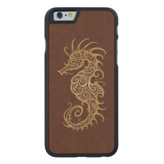 Intricate Brown Seahorse Design Carved® Maple iPhone 6 Slim Case