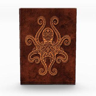 Intricate Brown Stone Octopus Awards