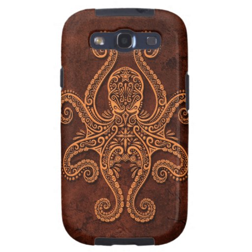 Intricate Brown Stone Octopus Samsung Galaxy S3 Case