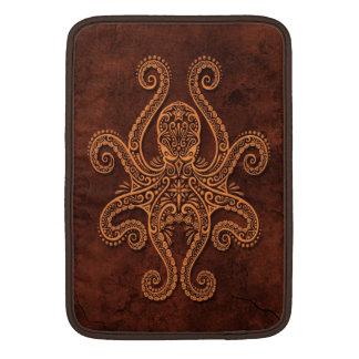Intricate Brown Stone Octopus MacBook Sleeve