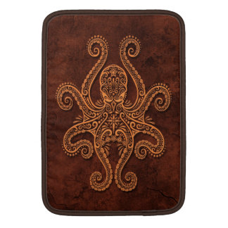 Intricate Brown Stone Octopus MacBook Sleeve