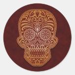 Intricate Brown Sugar Skull Stickers
