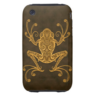 Intricate Brown Tree Frog iPhone 3 Tough Cover