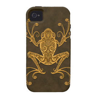 Intricate Brown Tree Frog Case-Mate iPhone 4 Cases