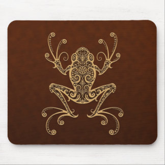 Intricate Brown Tree Frog Mouse Pad