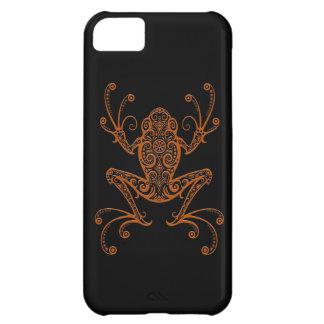 Intricate Brown Tree Frog on Black iPhone 5C Case