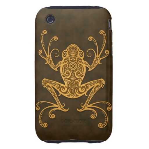 Intricate Brown Tree Frog Tough iPhone 3 Cover