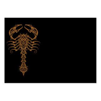 Intricate Brown Tribal Scorpion Business Card