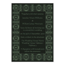 Intricate Celtic Knot Border Wedding Invitations