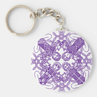 Intricate Celtic Knot Interconnected Symbolism Keychain