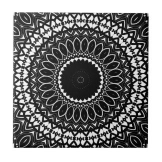 Intricate Color-it-yourself Kaleidoscopic Pattern Ceramic Tile