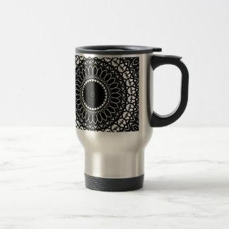 Intricate Color-it-yourself Kaleidoscopic Pattern Travel Mug