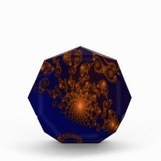 Intricate Copper Frills on Night Blue Fractal Award