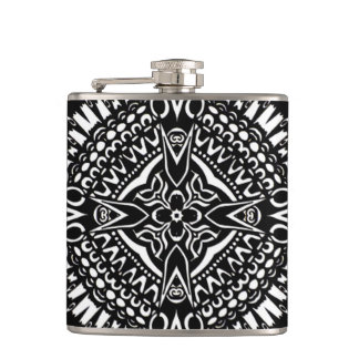 Intricate Cross Geometry Flasks