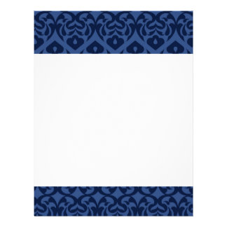 Intricate Dark Blue Heart Pattern On Soft Blue Full Color Flyer