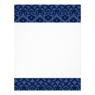 Intricate Dark Blue Heart Pattern On Soft Blue Flyer