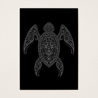 Intricate Dark Sea Turtle Business Card