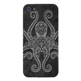 Intricate Dark Stone Octopus iPhone SE/5/5s Cover
