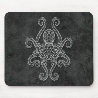 Intricate Dark Stone Octopus Mouse Pad