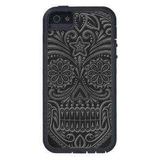 Intricate Dark Sugar Skull Case For iPhone SE/5/5s