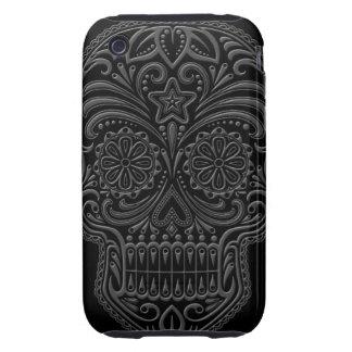 Intricate Dark Sugar Skull iPhone 3 Tough Case