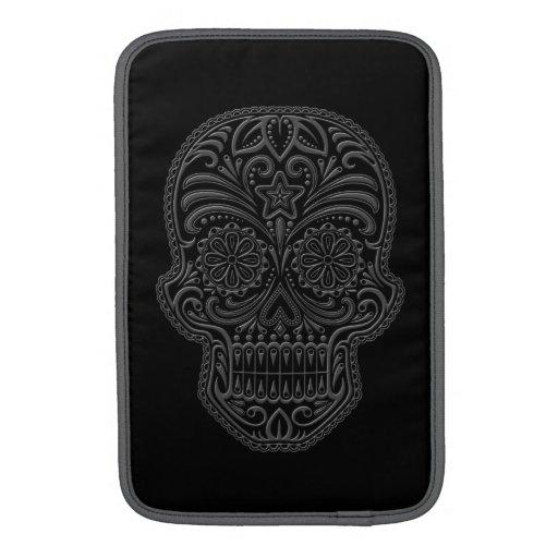 Intricate Dark Sugar Skull Sleeve For MacBook Air