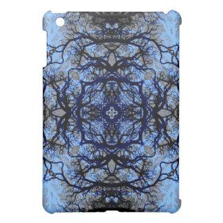 Intricate Decorative design. Black & Blue. Case For The iPad Mini
