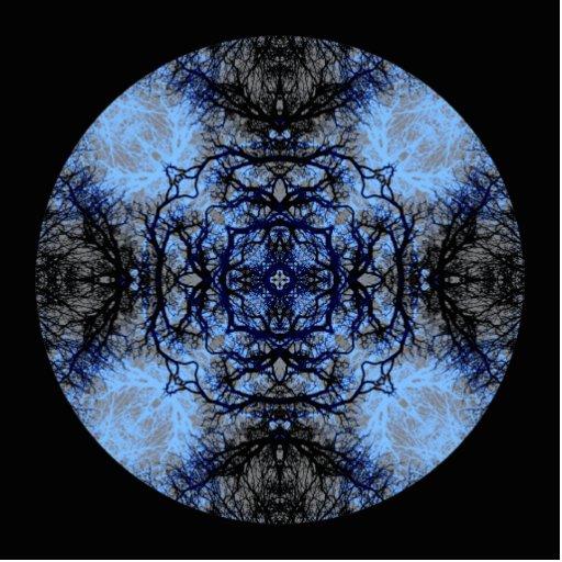 Intricate Decorative design. Black & Blue. Cut Out