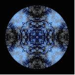 Intricate Decorative design. Black & Blue. Cut Outs