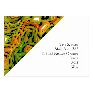 intricate emotions,green orange (C) Large Business Cards (Pack Of 100)
