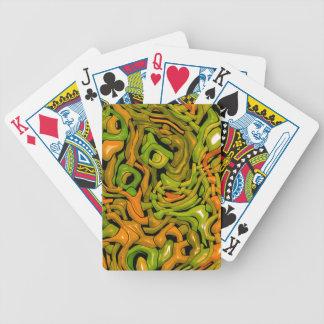intricate emotions,green orange (C) Bicycle Playing Cards