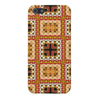 Intricate fabric iPhone 4 4S case amber silver