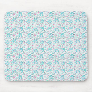 Intricate Floral Collage Mouse Pad