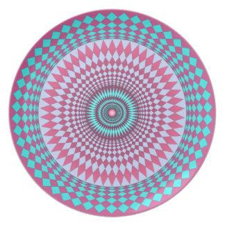 Intricate Geometric Circular Design Plate