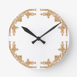 Intricate Gold Round Clock
