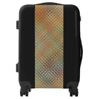 Intricate Gold Yellow Pink Red Green Pattern Luggage