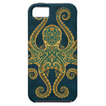 Intricate Golden Blue Octopus iPhone 5 Cover