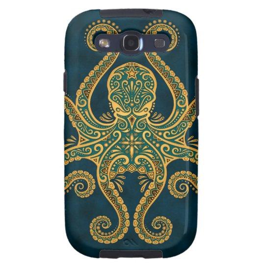 Intricate Golden Blue Octopus Samsung Galaxy S3 Case
