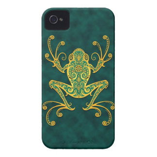 Intricate Golden Blue Tree Frog iPhone 4 Case-Mate Case